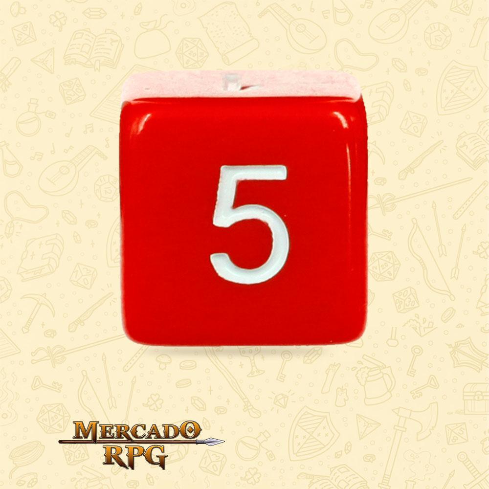Dado de RPG - D6 Red Opaque Dice - Seis Lados - Mercado RPG