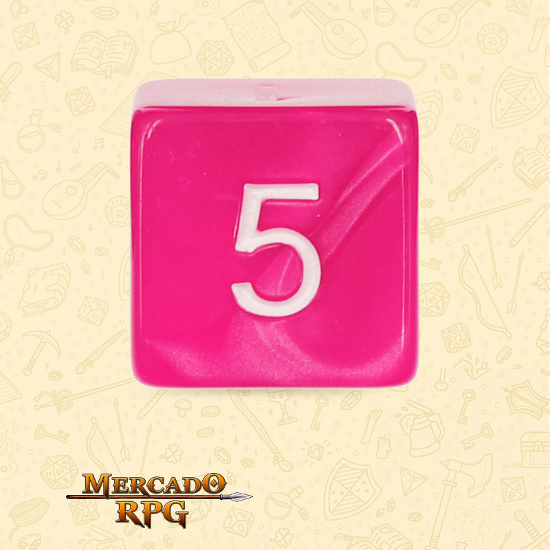 Dado de RPG - D6 Rose Red Pearl Dice - Seis Lados - Mercado RPG