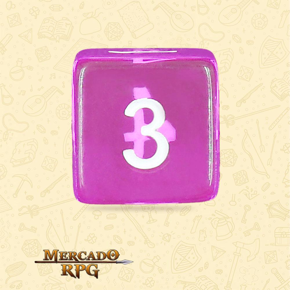 Dado de RPG - D6 Tyrian Gems Transparent Dice - Seis Lados - Mercado RPG