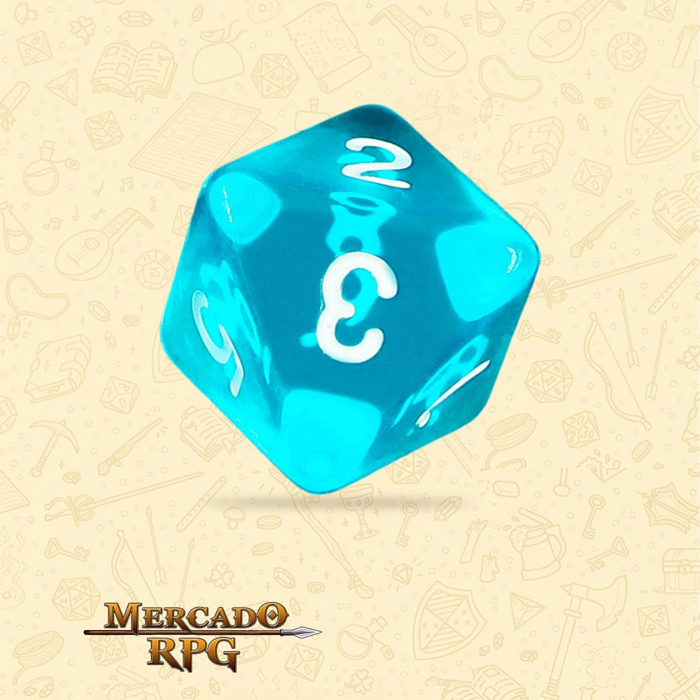 Dado de RPG - D8 Azure Gems Transparent Dice - Oito Lados - Mercado RPG