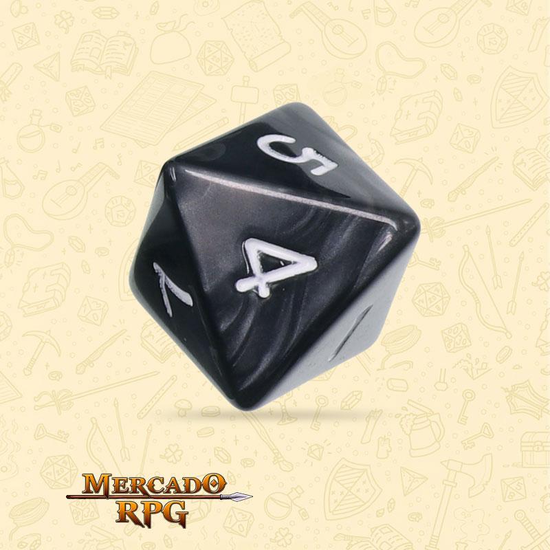 Dado de RPG - D8 Black Pearl Dice - Oito Lados - Mercado RPG