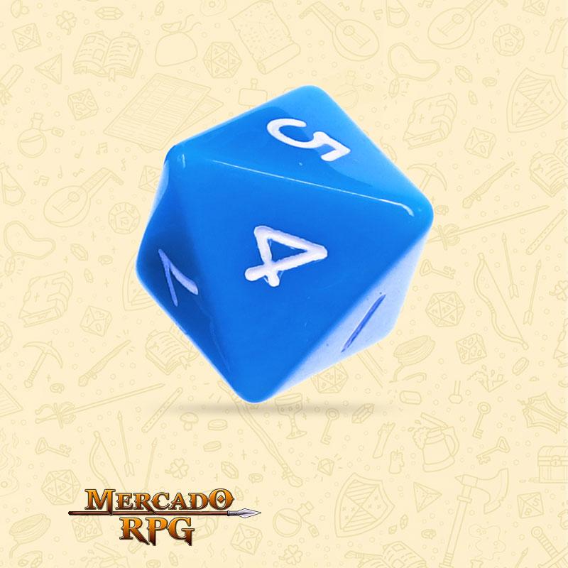 Dado de RPG - D8 Blue Opaque Dice - Oito Lados - Mercado RPG