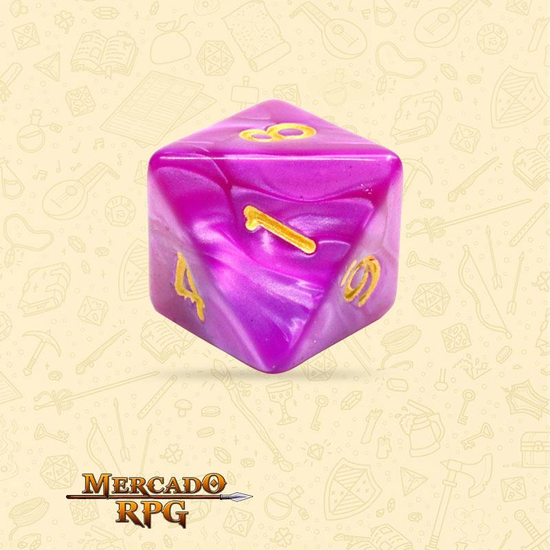 Dado de RPG - D8 Dark Purple Pearl Dice - Oito Lados - Mercado RPG
