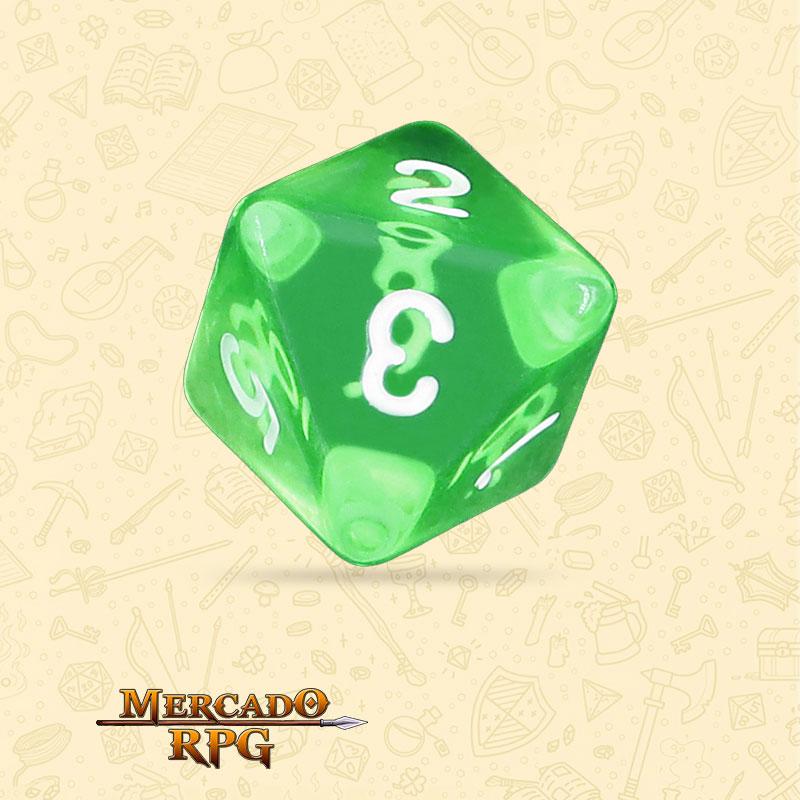 Dado de RPG - D8 Esmerald Gems Transparent Dice - Oito Lados - Mercado RPG