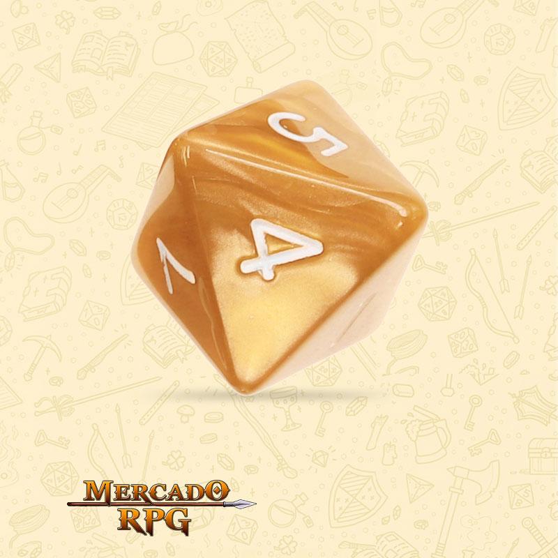 Dado de RPG - D8  Golden Pearl Dice - Oito Lados - Mercado RPG