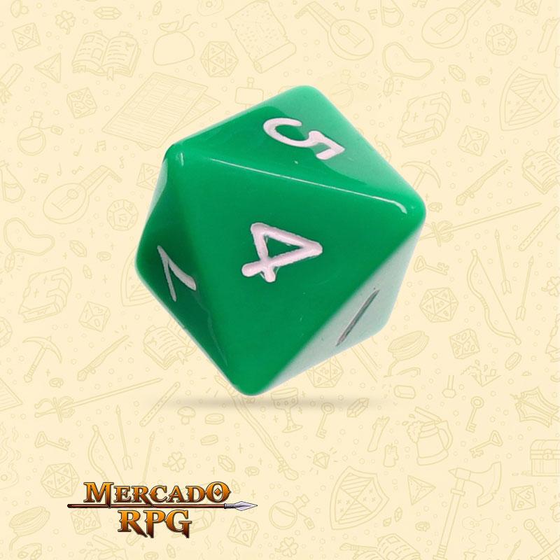 Dado de RPG - D8 Green Opaque Dice - Oito Lados - Mercado RPG