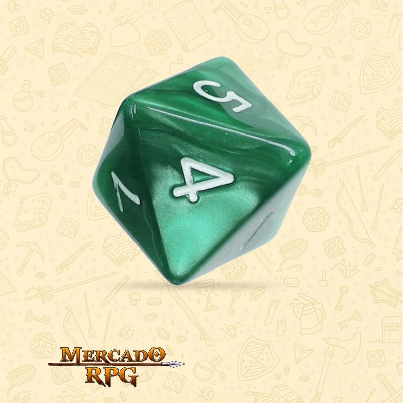 Dado de RPG - D8 Green Pearl Dice - Oito Lados - Mercado RPG