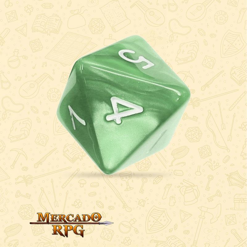 Dado de RPG - D8  Pale Green Pearl Dice - Oioto Lados - Mercado RPG