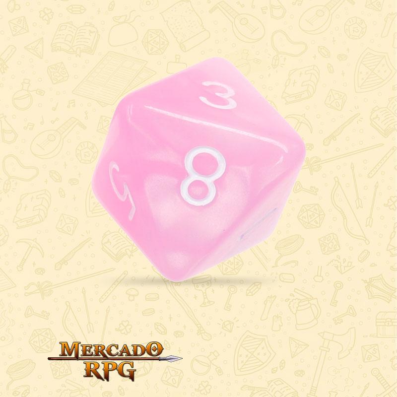 Dado de RPG - D8  Pink Pearl Dice - Oito Lados - Mercado RPG