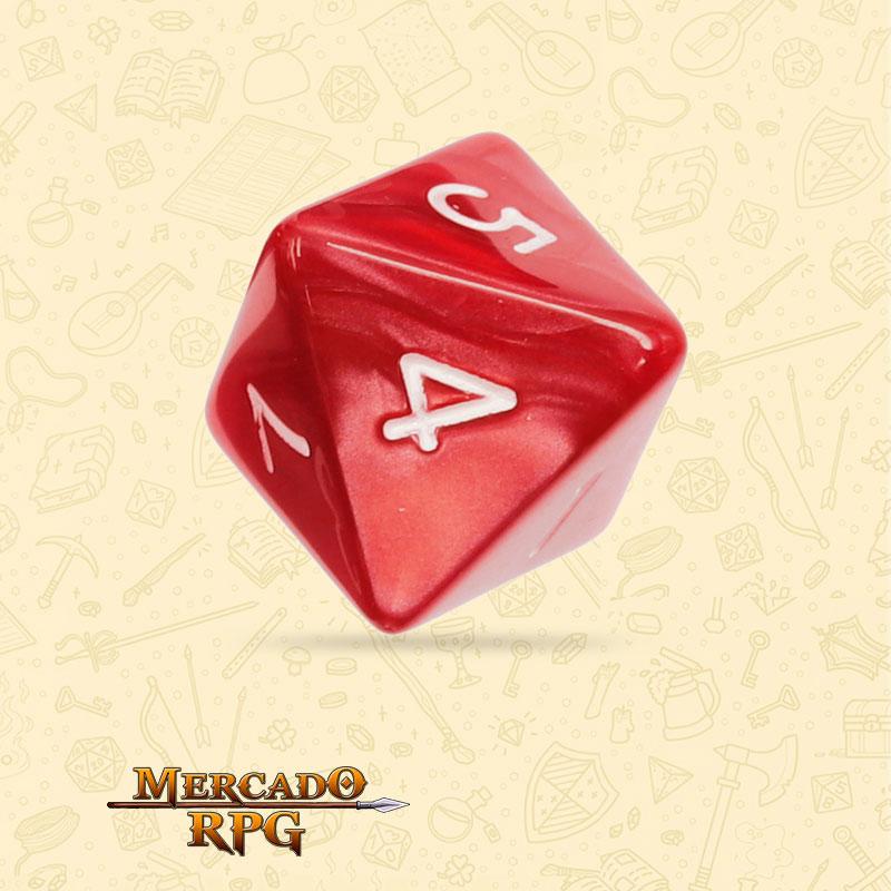 Dado de RPG - D8 Red Pearl Dice - Oito Lados - Mercado RPG