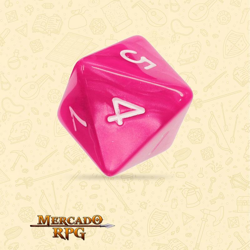 Dado de RPG - D8 Rose Red Pearl Dice - Oito Lados - Mercado RPG
