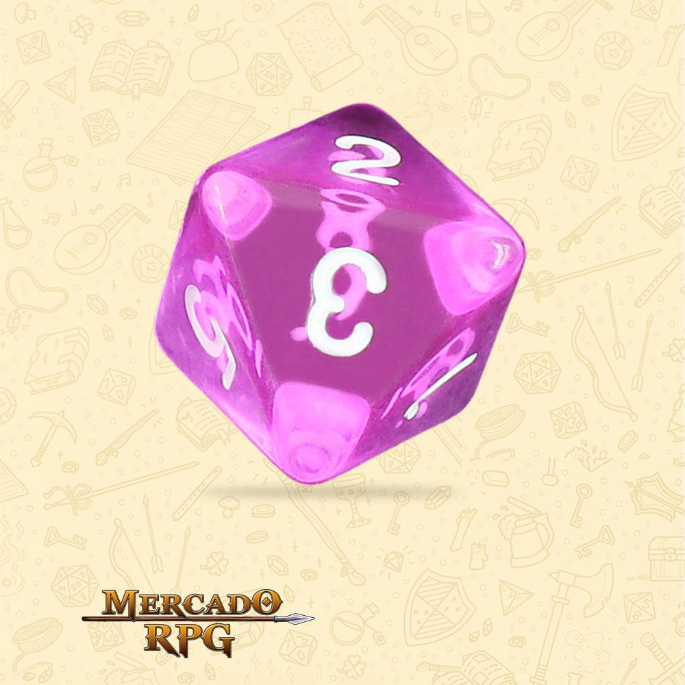 Dado de RPG - D8 Tyrian Gems Transparent Dice - Oito Lados - Mercado RPG