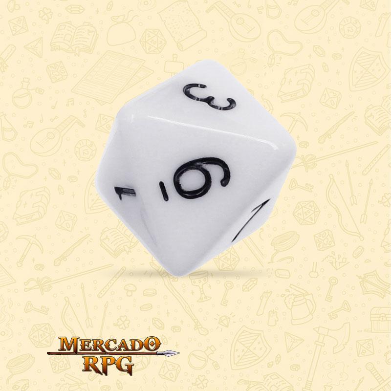 Dado de RPG - D8 White Opaque Dice - Oito Lados - Mercado RPG