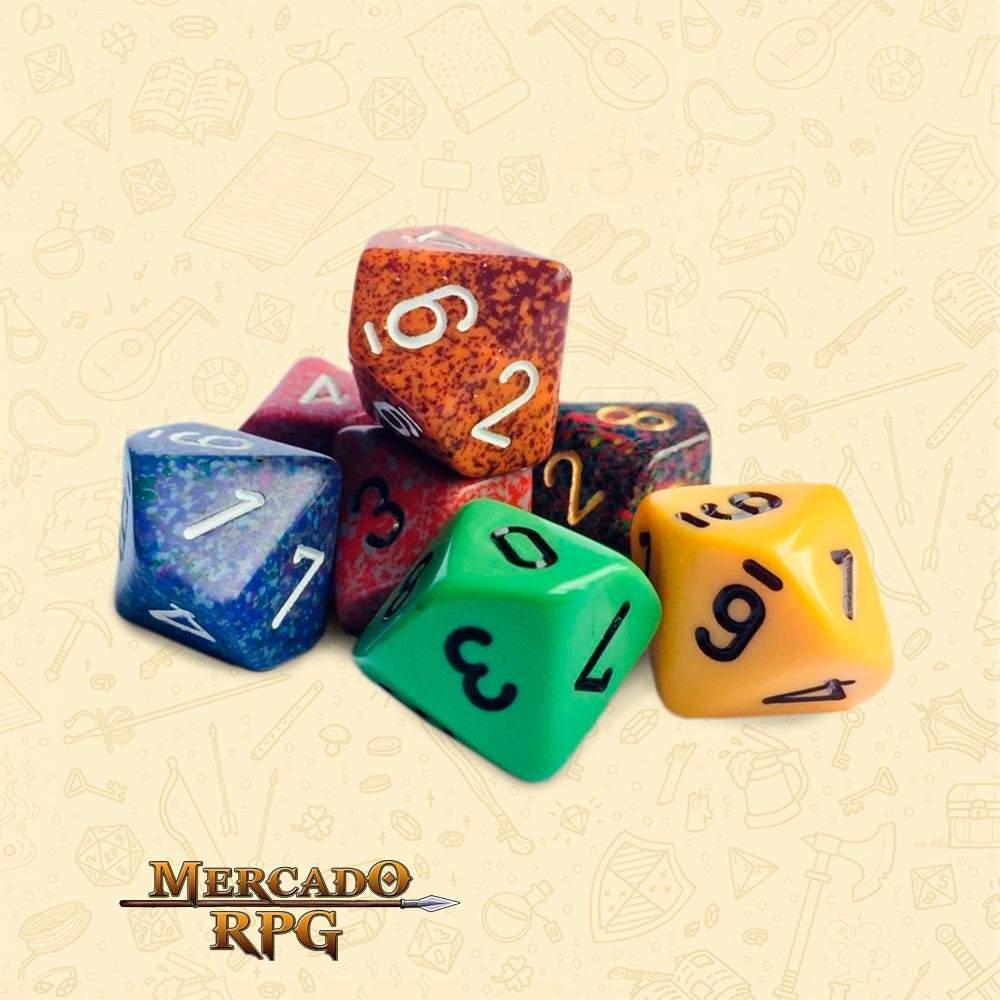 Dado de RPG - D10 Cor Aleatória - Dez Lados - Mercado RPG