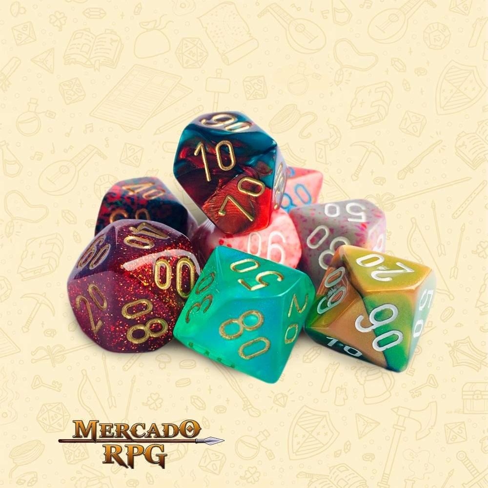 Dado de RPG - D10 Dezena Cor Aleatória - Dez Lados - Mercado RPG