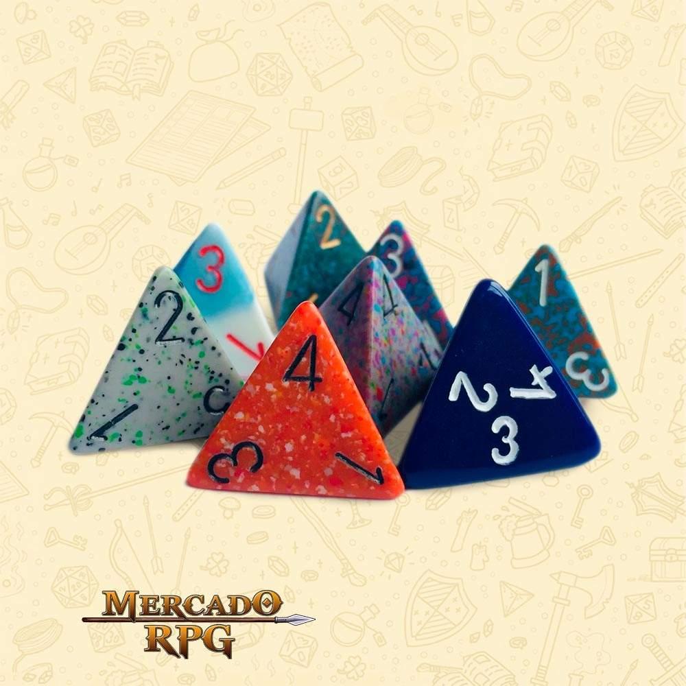 Dado de RPG - D4 Cor Aleatória - Quatro Lados - Mercado RPG
