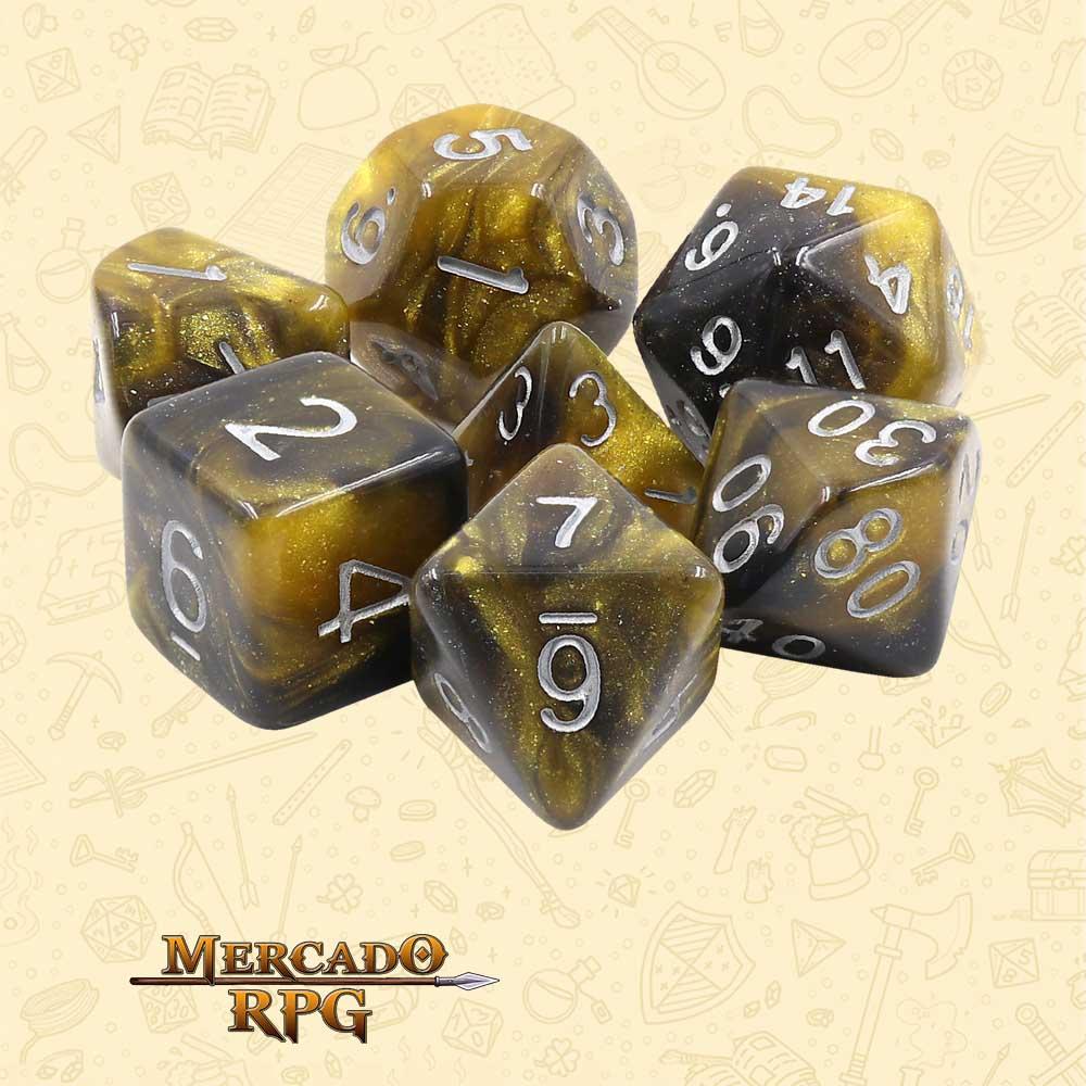 Dados de RPG - Conjunto com 7 Dados Aurora - Monarch Aurora Dice - Mercado RPG