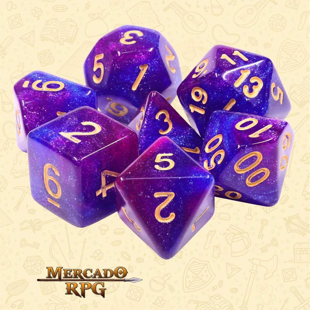 Dados de RPG - Conjunto com 7 Dados Aurora - Thousand Stars Aurora Dice - Mercado RPG