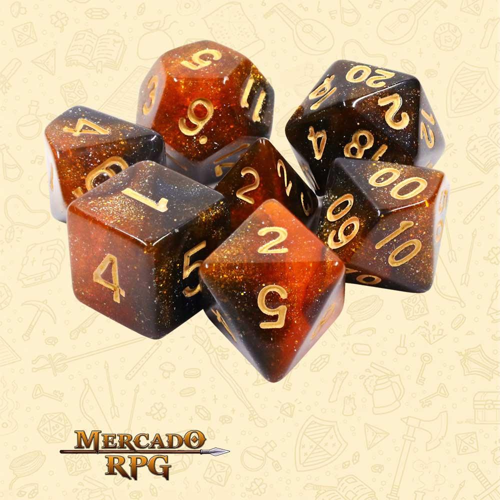 Dados de RPG - Conjunto com 7 Dados Aurora - Twilight Sparkle Aurora Dice - Mercado RPG