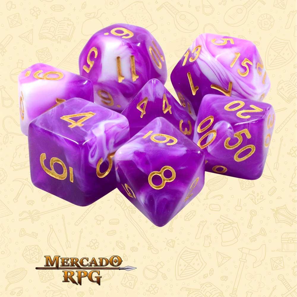 Dados de RPG - Conjunto com 7 Dados Blend - Berrycream Blend Color Dice - Mercado RPG