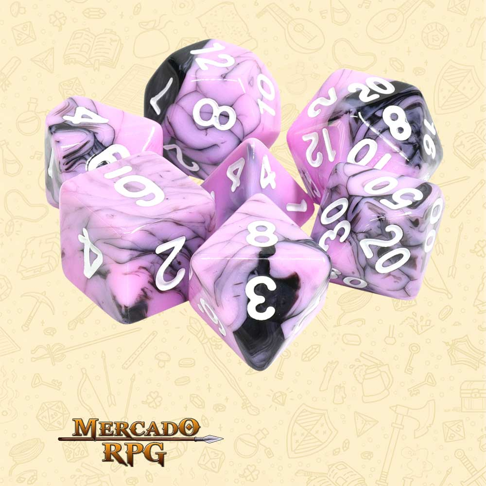 Dados de RPG - Conjunto com 7 Dados Blend - Blueberry Smoothie Blend Color Dice - Mercado RPG