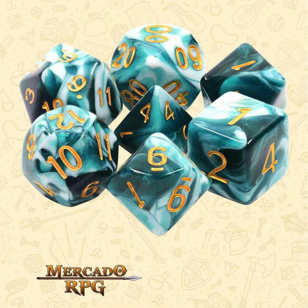 Dados de RPG - Conjunto com 7 Dados Blend - Blueink Blend Color Dice - Mercado RPG