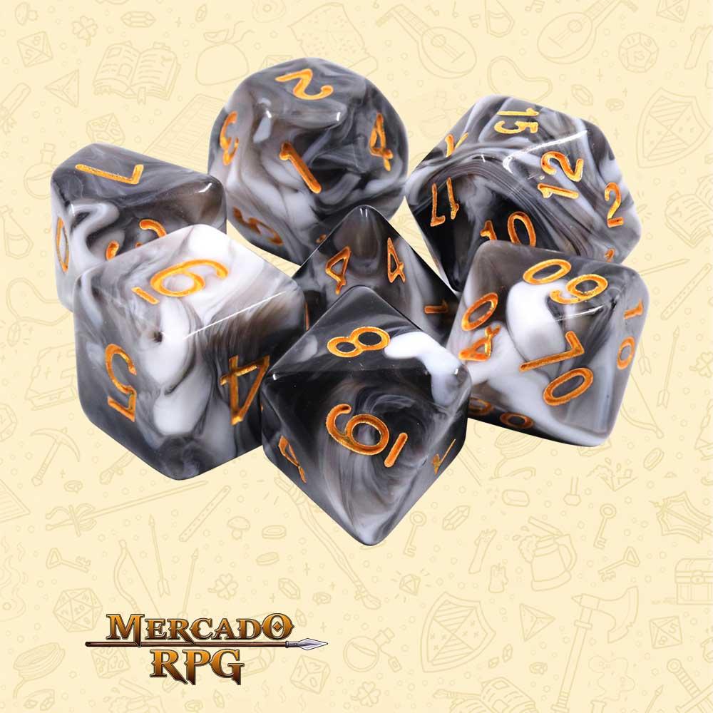 Dados de RPG - Conjunto com 7 Dados Blend - Chocolate Cream Blend Color Dice - Mercado RPG