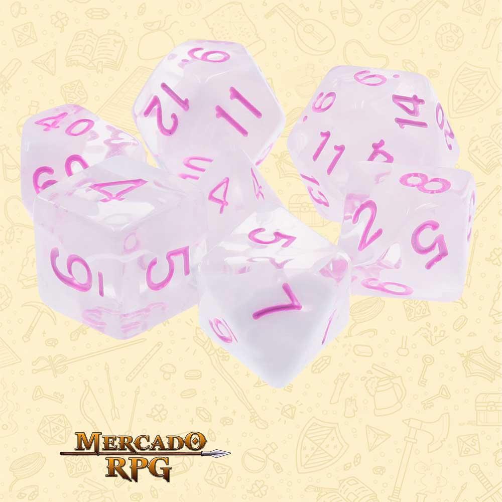 Dados de RPG - Conjunto com 7 Dados Blend - Cloudy Passion Blend Color Dice - Mercado RPG