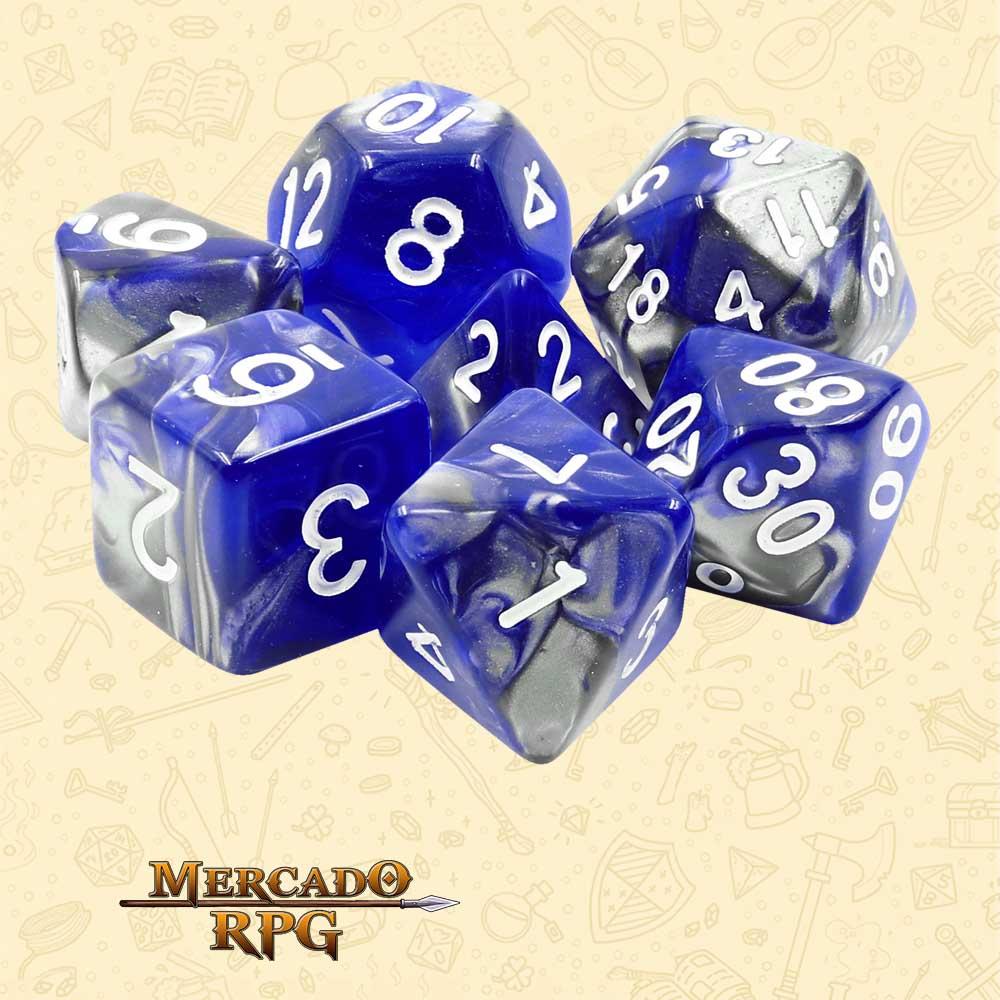 Dados de RPG - Conjunto com 7 Dados Blend - Cold Iron Blend Color Dice - Mercado RPG