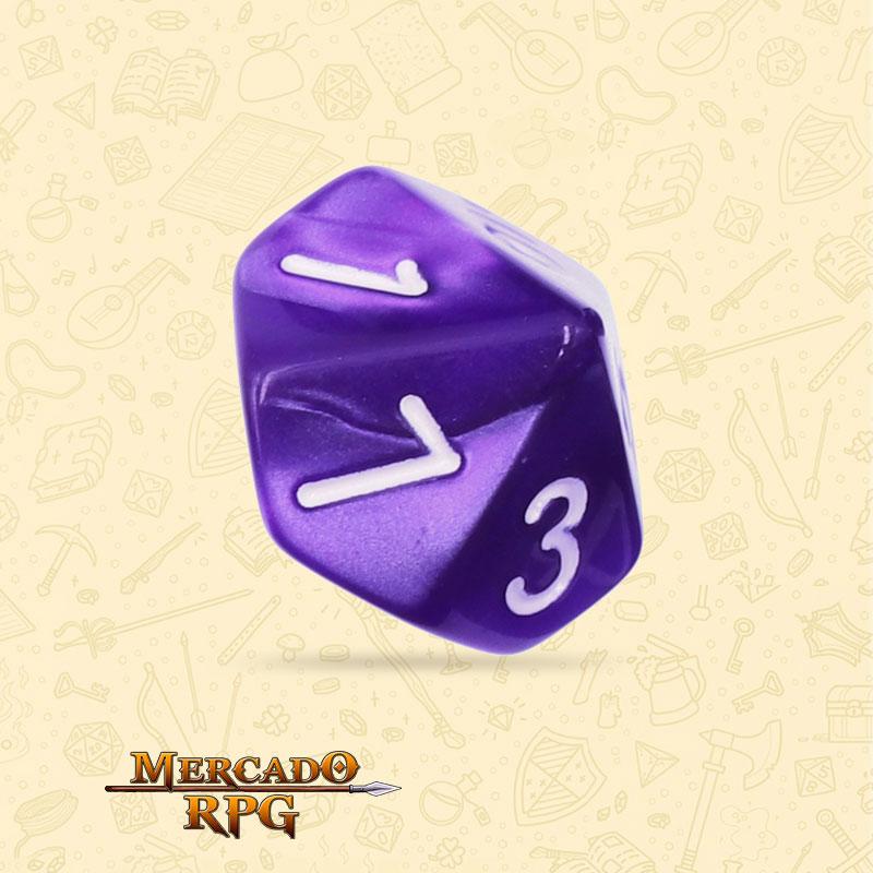 Dado de RPG - D10 Purple Pearl Dice - Dez Lados - Mercado RPG