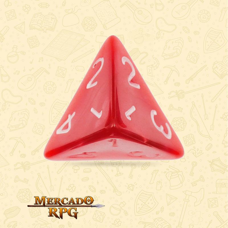 Dado de RPG - D4 Red Pearl Dice - Quatro Lados - Mercado RPG