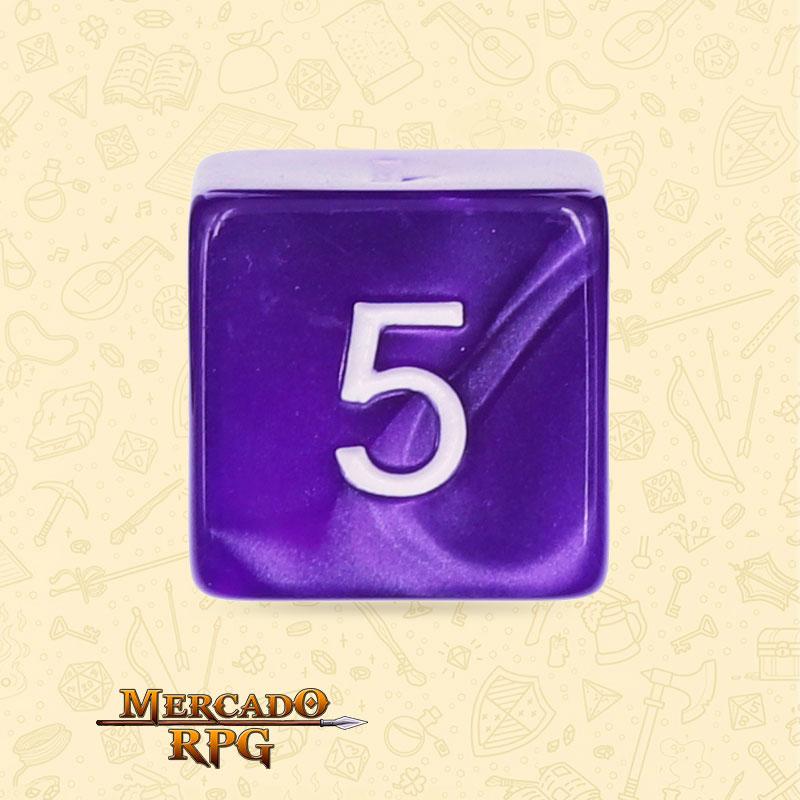 Dado de RPG - D6 Purple Pearl Dice - Seis Lados - Mercado RPG