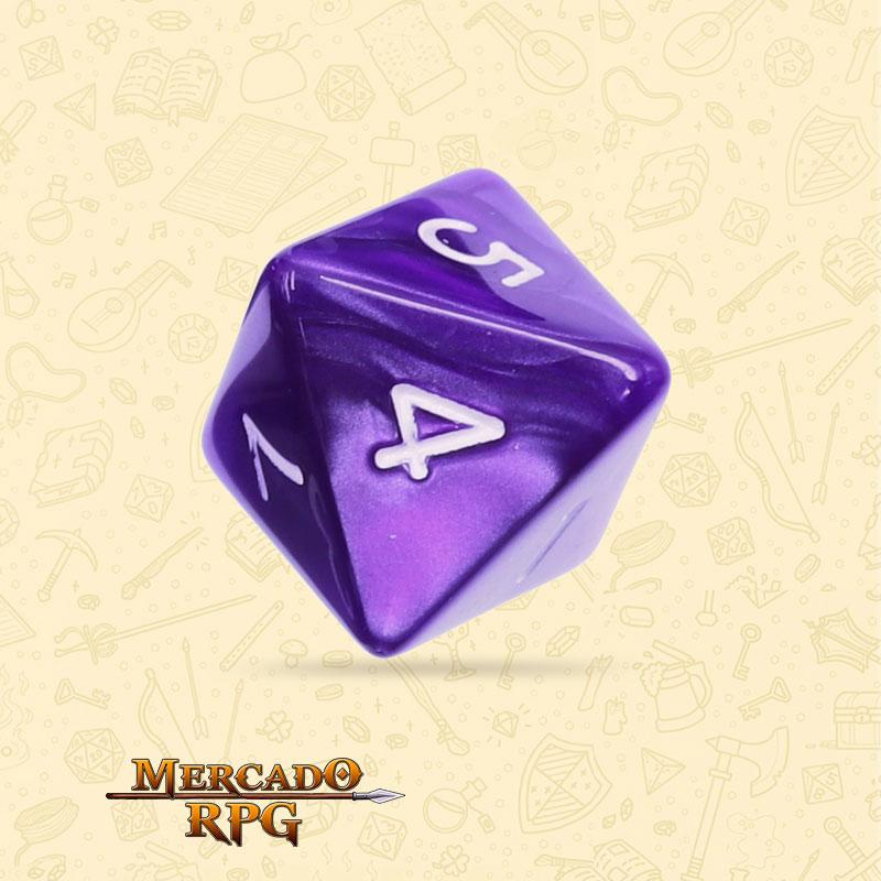 Dado de RPG - D8 Purple Pearl Dice - Oito Lados - Mercado RPG