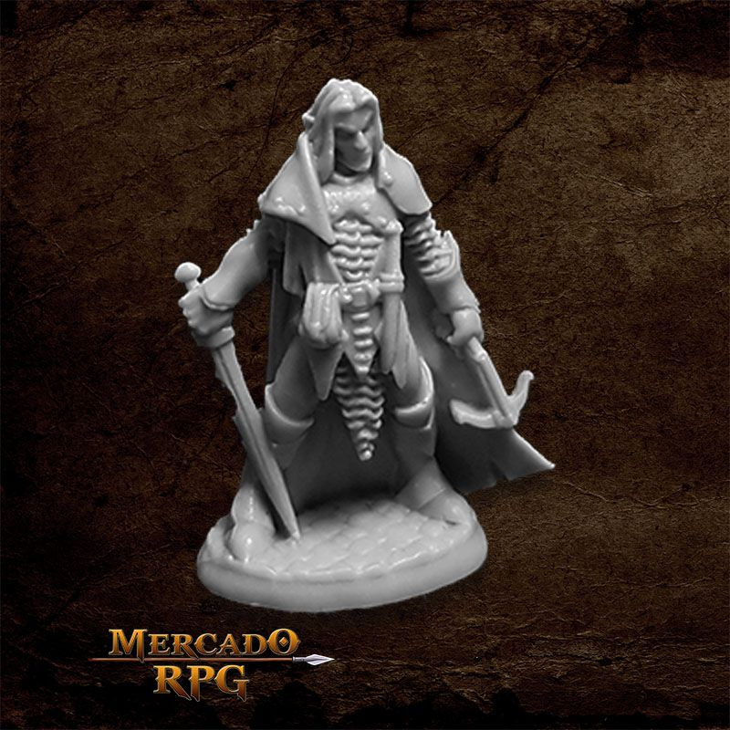 Dark Elf Male Warrior - Miniatura RPG  - Mercado RPG