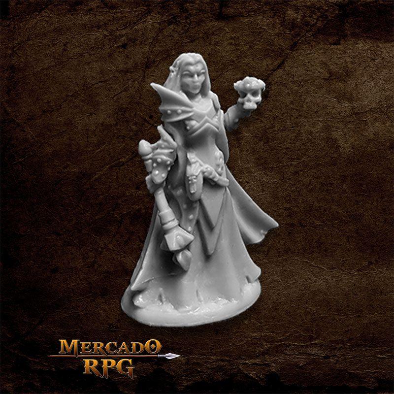 Dark Elf Priestess - Miniatura RPG  - Mercado RPG