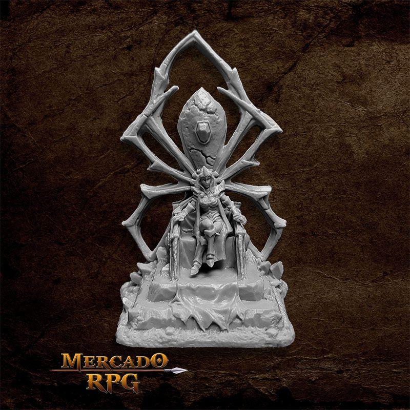 Dark Elf Queen on Throne - Miniatura RPG