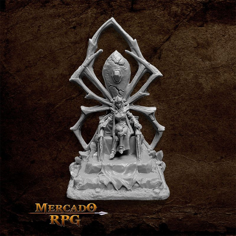 Dark Elf Queen on Throne - Miniatura RPG  - Mercado RPG