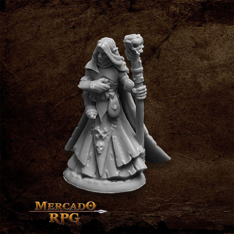 Dark Elf Wizard - Miniatura RPG  - Mercado RPG