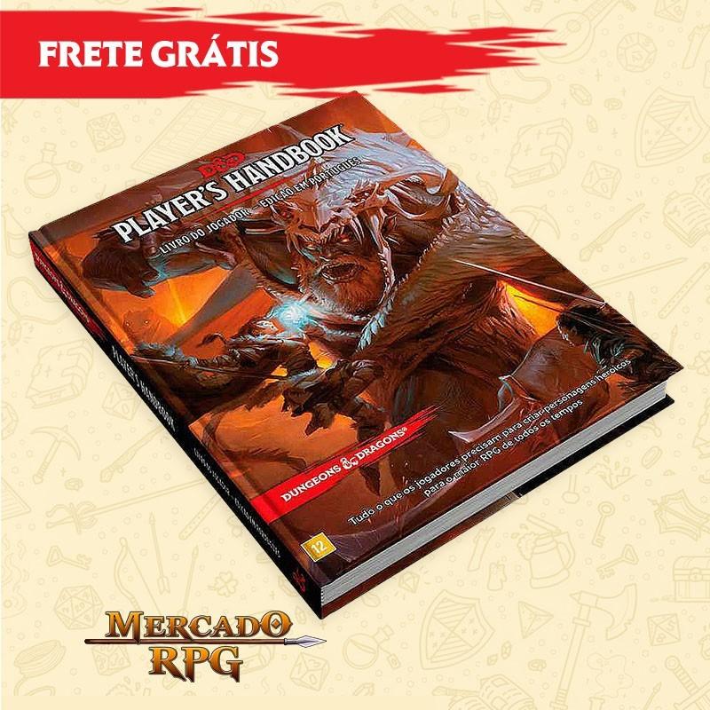 D&D 5e - FRETE GRÁTIS - Livro do Jogador - Edição em português