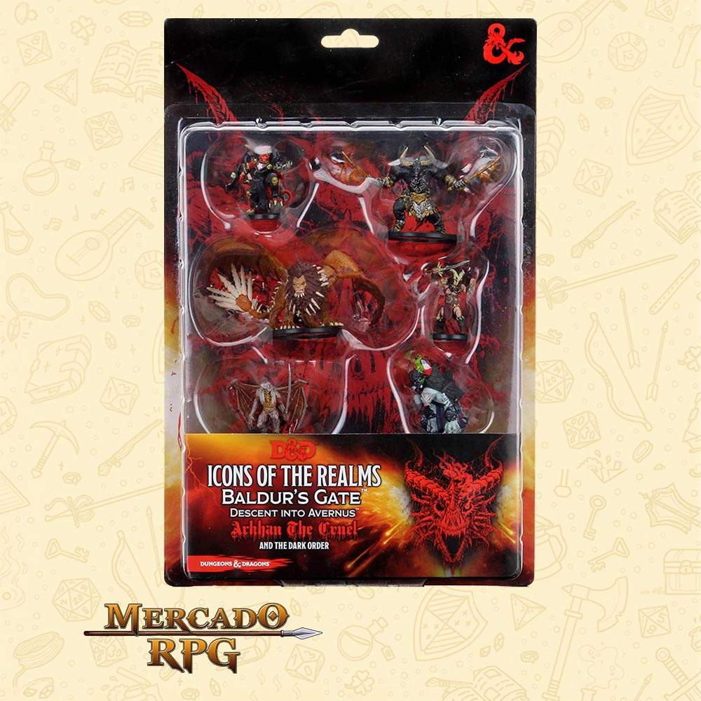 D&D Figure Pack Descent into Avernus Arkhan the Cruel and The Dark Order