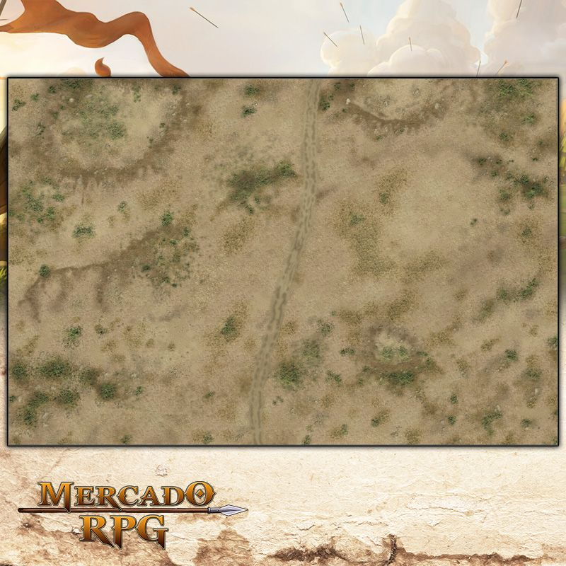 Deserto A (180x120) - Battle Grid Wargame  - Mercado RPG