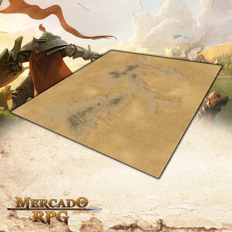 Deserto B 120x120 (Sem Grid) Grid de Batalha - Battle Grid Wargame - RPG