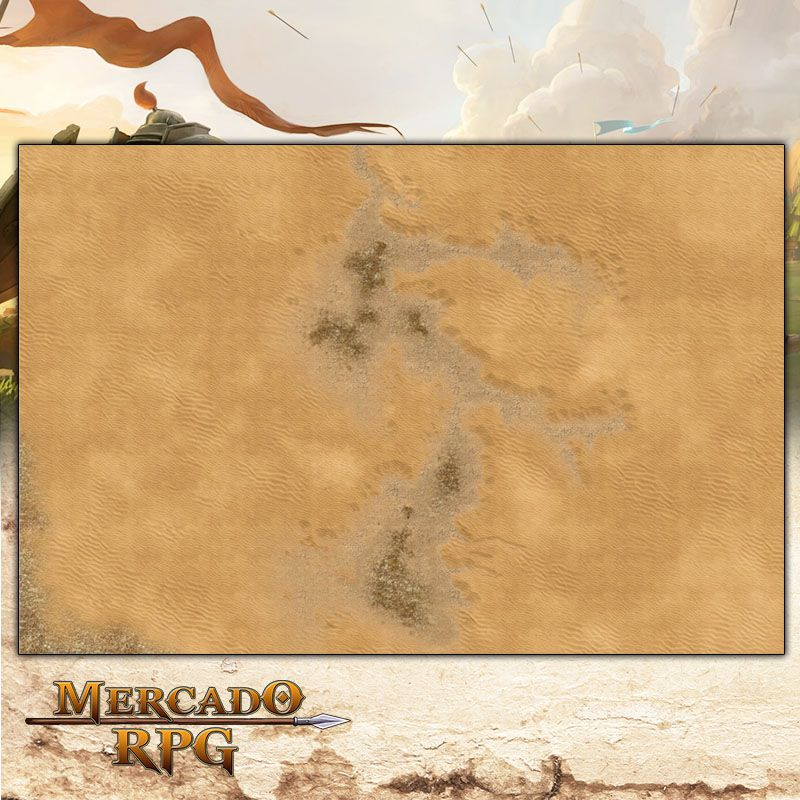 Deserto B (172x119) - Battle Grid Wargame  - Mercado RPG