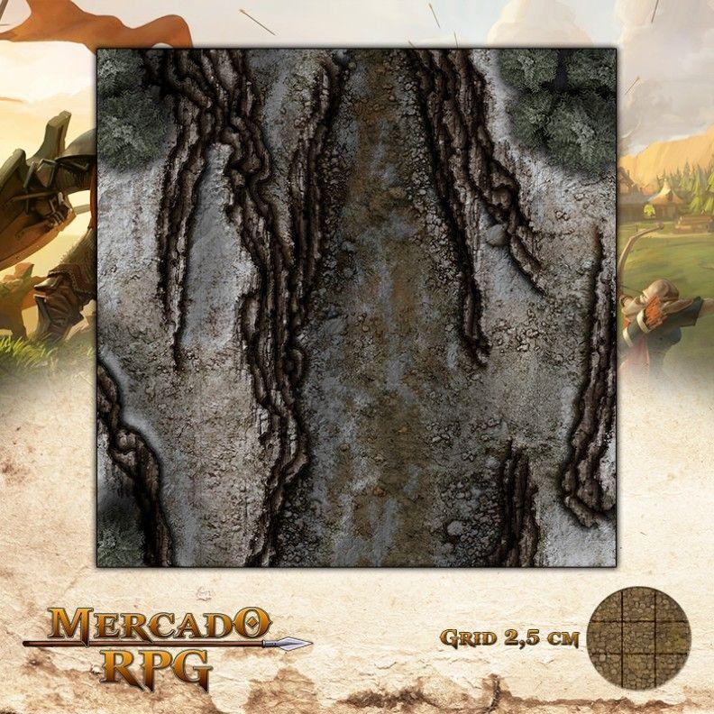 Desfiladeiro da Montanha B 50x50 - RPG Battle Grid D&D