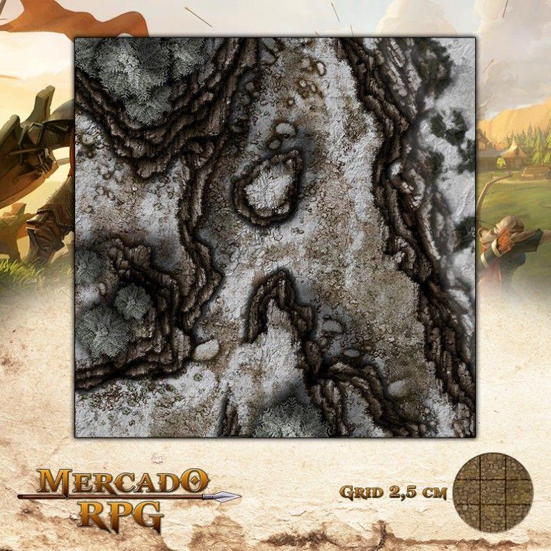 Desfiladeiro da Montanha C 50x50 - RPG Battle Grid D&D