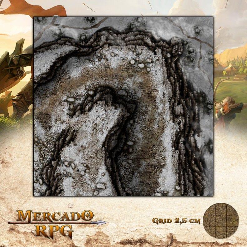 Desfiladeiro da Montanha D 50x50 - RPG Battle Grid D&D