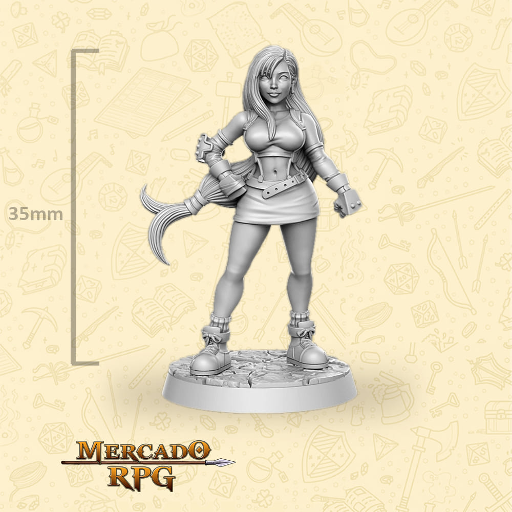 Tifa Lockhart - Miniatura Final Fantasy - RPG