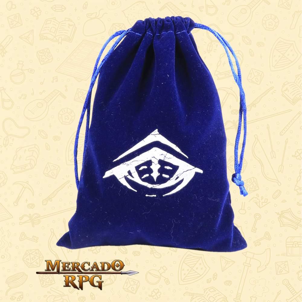 Dice Bag Grande Azul para RPG - Basilisco Dados - Mercado RPG