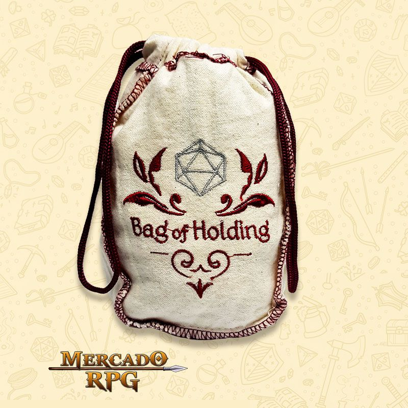 Dice Bag Grande RPG - Bag of Holding  - Mercado RPG