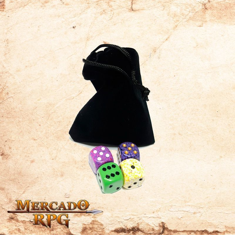 Dice Bag - Preto  - Mercado RPG